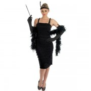 1920s Flapper in Black