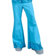 Sequin Trousers Light Blue